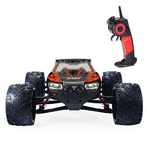 GPTOYS RC Cars 33MPH Remote Control Truck 1/12 Scale 2.4GHz 2WD Off-Road Monster Green (3rd Version)