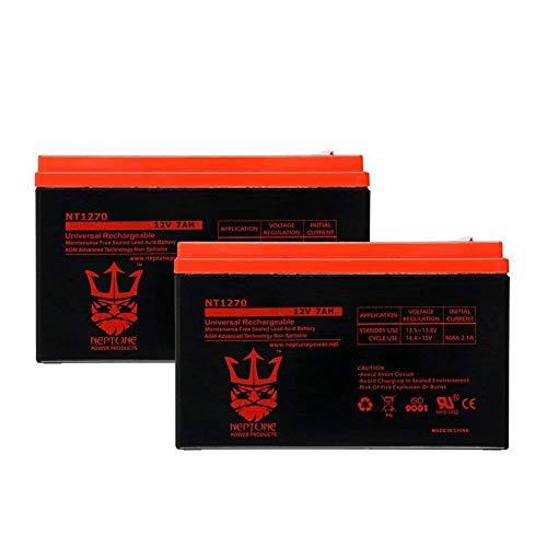 Neptune 12V 7Ah NT-1270 Rechargeable SLA Sealed Lead Acid Battery- 2 Pack