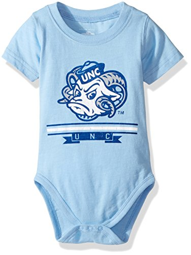 (NCAA Boys Short sleeve Onesie,North Carolina Tar Heels,Blue,12M)