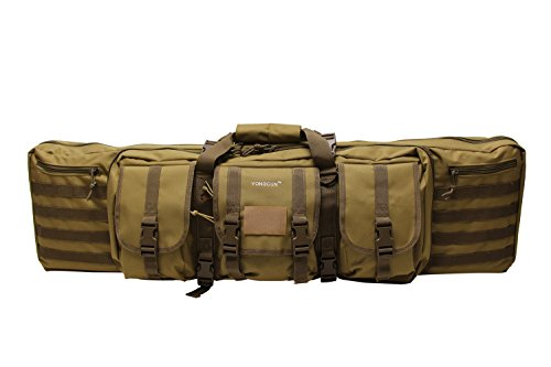 YONGCUN Gun Bag Gun Case Rifle Bag Tactical Bag Double Carbine Cases Long Gun Case Bag Tactical Gun Bag 42inch Tan 600D Waterproof ()