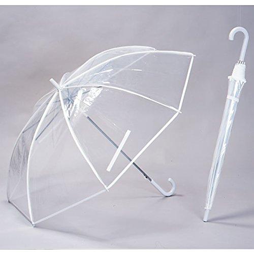 【6本組】 特大 透明ビニール傘 70cm グラスファイバー骨 【LIEBEN-0637】 B018RYQ7AW