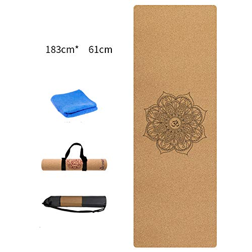 SHIYN 3Mm Yoga Mat Corcho Natural con Oxford Mat Bolsa Y ...