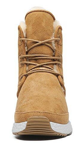 Women Boots Suede amp;MU AU Lace Chestnut Aumu Up Winter Px1Ez0n