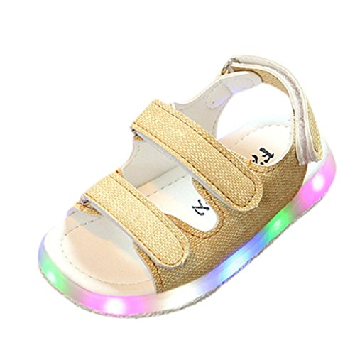 Hot Sale!Summer Sandals 2018,Todaies Toddler Kids Sport Summer Girls Baby Sandals Boys LED Luminous Shoes Sneakers (US:8, Yellow)