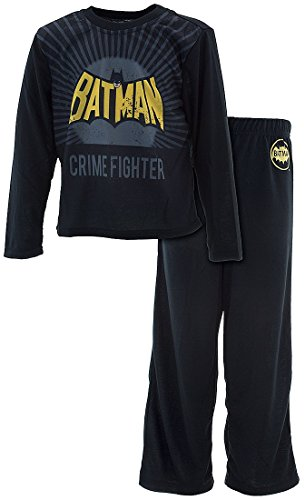 Intimo Little Boy's Batman Crime Fighter Pajama Set Sleepwear, black, - Crime Fighter Batman