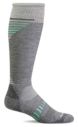 Sockwell Women's Ascend II Knee-High Moderate Graduated Compression Socks, Grey - Medium/Large