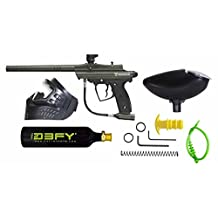 D3fy Sports CP-02-OD Conquest Semi Auto Paintball Marker Combo Kit, Olive Drab