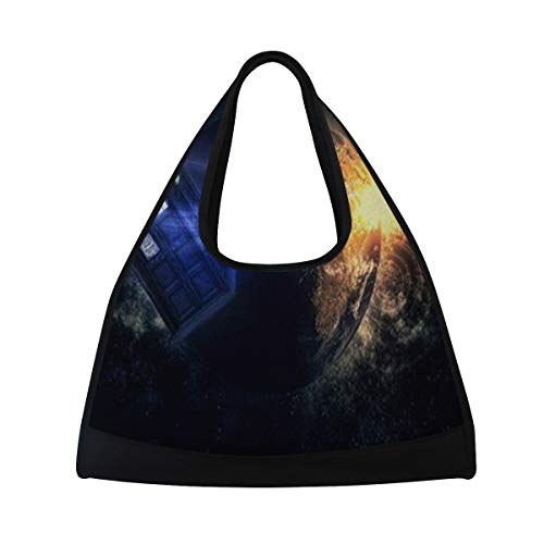 - Sports Bag Doctor Who Tardis Mens Duffle Luggage Travel Bags Womens Lightweight Gym bag