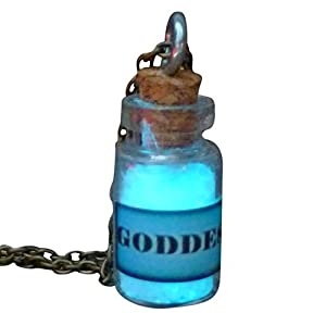 umbrellalaboratory Goddess Fairy Glow in The Dark Necklace Bottle