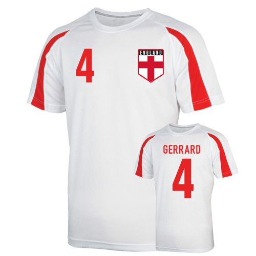 England Sports Training Jersey (gerrard 4) Kids B0799FJBKHWhite LB (9-11 Years)