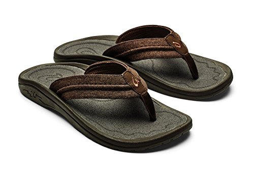 OLUKAI Hokua Mesh Sandals - Men's Night Charcoal (Mesh Mens Sandals)