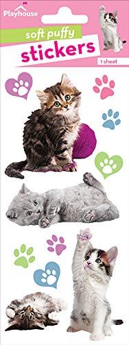 (Playhouse Pretty Kitties Soft Puffy 11-Piece Sticker Sheet)