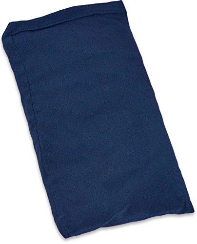 YogaAccessories Small Silk Eye Pillow (Unscented) Iris Blue