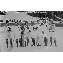 early 1900s photo AngloAmerican Hockey Team, St. Moritz Vintage Black & White e1