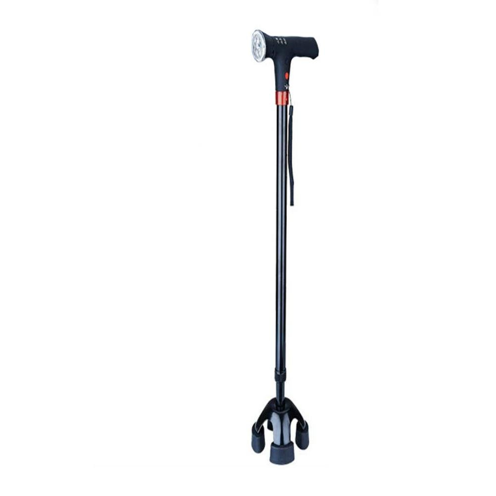 JINGLI WANGJINLI Multi-Purpose Elderly Crutches Small Four-Foot Non-Slip Can Alarm LED Lighting Electronic Crutches
