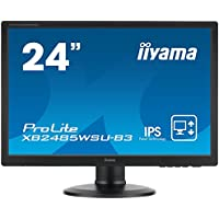 Iiyama 24,1 PLS LED-Backlit, 4 ms 250 cd/mý, 16.7 M, 1000:1, XB2485WSU-B3 (250 cd/mý, 16.7 M, 1000:1 16:10, 2 x 1.5 W, VESA 100x100, Black)