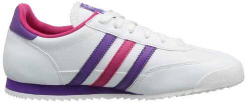 adidas Dragon J G95092 Mädchen Outdoor Fitnessschuhe Weiß (Running White Ftw / Ray Purple F13 / Blast Pink F13)