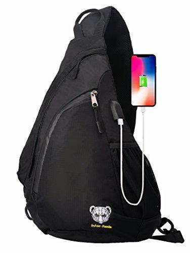 Polar Panda Sling Backpack Crossbody Bag for Women & Men Travel Shoulder Chest Bags One Strap Hiking & Outdoor Pack