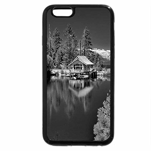 iPhone 6S Plus Case, iPhone 6 Plus Case (Black & White) - Green reflections