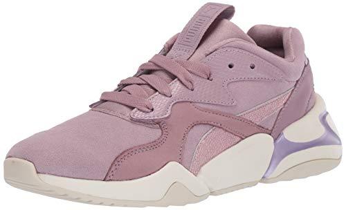 Puma Flats - PUMA Women's NOVA Sneaker, Elderberry, 8.5 M US
