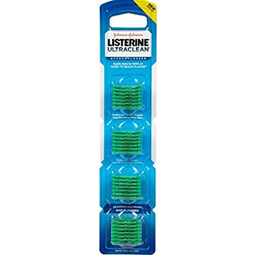 (Listerine Ultra Clean Access Flosser Mint Refill Heads, 28 Count (Pack Of 6))