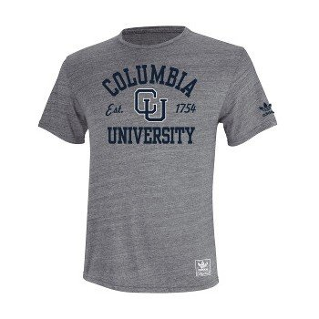 competitive price 43e91 3c154 adidas Columbia University Lions Grey Tri-Blend T-Shirt ...