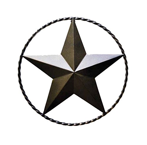 IRON STAR WITH RING FOR WALL-18 INCHES IN DIAMETER.