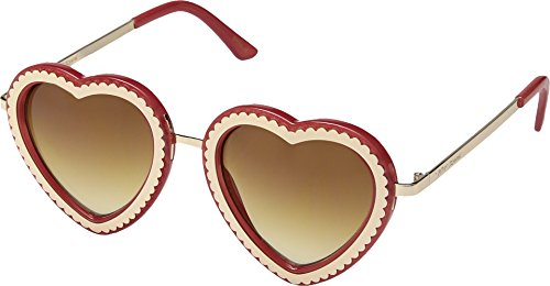 Betsey Johnson Women's BJ485232 Red One - Heart Face Sunglasses Shaped