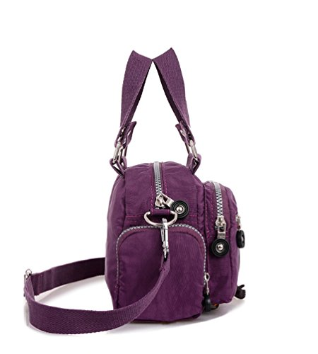 Women amp; Shoulder Bag Water Solid Cross for Resistant Nylon Girls Chou Mini Azure Body Handbag Color Tiny qB6OTwO
