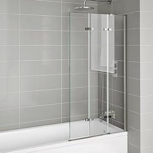800mm Luxury Folding Bath Shower Glass Screen Pivot Door