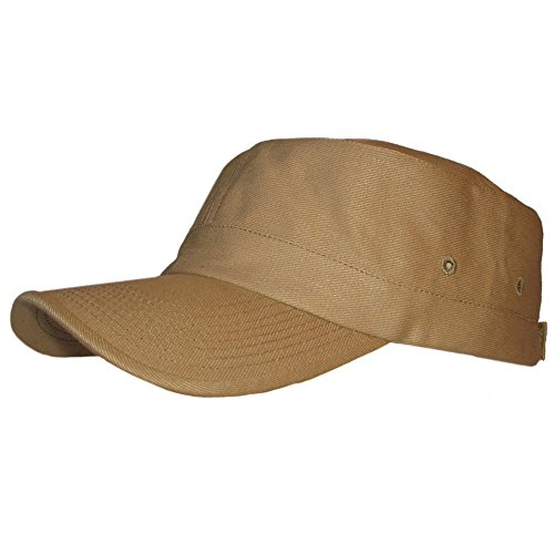 Hemp & Organic Cotton Military Cap - Khaki Hat from Fair Hemp