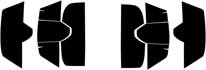 Auto Ventshade 37524 Dark Smoke Headlight Covers for 2014-2018 Toyota Tundra