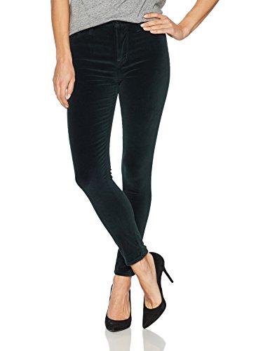 - Hudson Jeans Women's Barbara High Waist Super Skinny Ankle Velvet Jean, Agave, 26