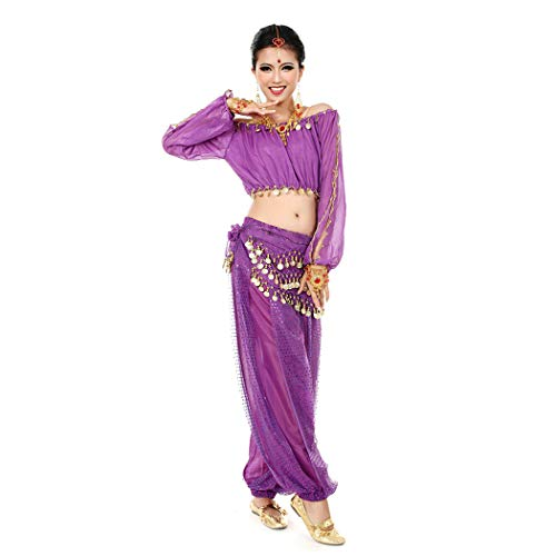 Maylong Womens Harem Pants Belly Dance Outfit Halloween Costume DW29 (Purple) for $<!--$22.99-->