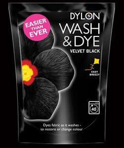 Lavado y tinte terciopelo Negro - 1 x - tinte de la tela de ...