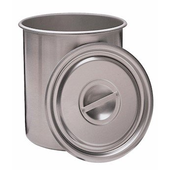 Cole-Parmer Stainless steel beaker with optional cover, 7.6 L 720680