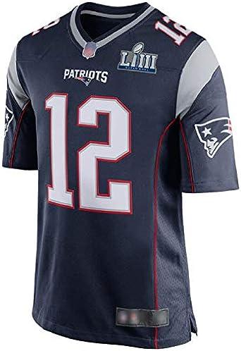 White Hombre New England Patriots #12 Tom Brady Jersey de ...