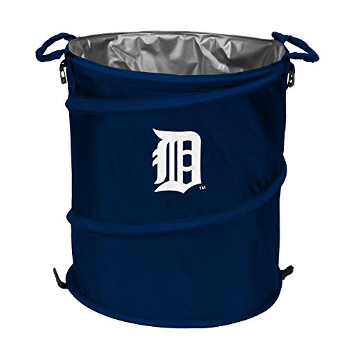 Logo Folding Cooler, Detroit Tigers Blue 3-in-1 Outdoor Collapsible Trash Can ()