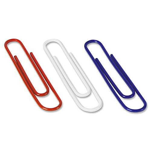 Acco 72542 Paper Clips Jumbo 150/Box Nylon Coating