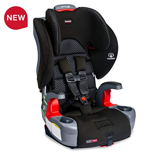 BRITAX Britax USA USA Grow with You ClickTight Harness-2-Booster Car Seat – 2 Layer Impact Protection – 25 to 120 Lb, Cool Flow Gray