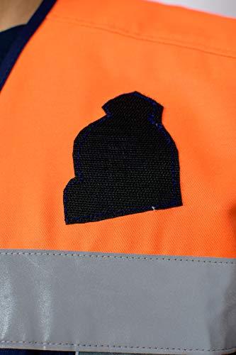 Chaleco Protección Civil (3XL, MARINO/NARANJA) 6