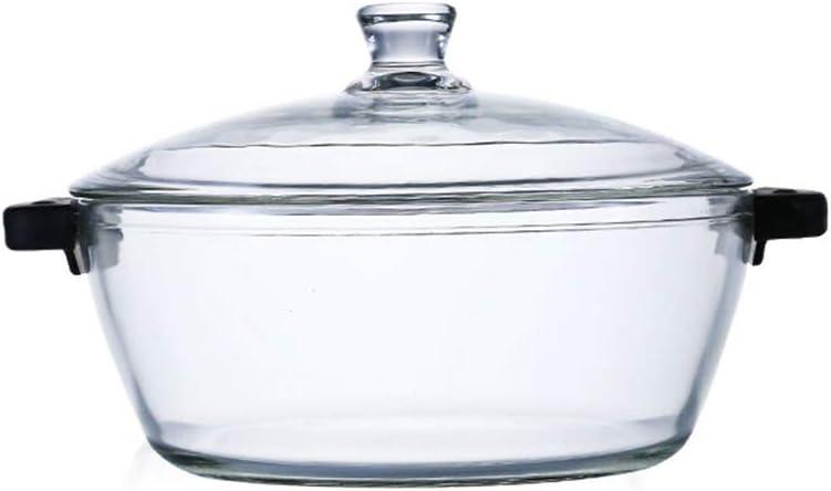 QNMM - Recipiente de Cristal con Tapa (Resistente al Calor, para ...