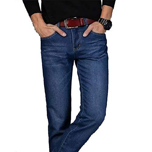 Jogging Dritti Denim Fit Nero Slim Uomo Stretch Chino Casual Da Jeans Moderna Pantaloni 1zU8I7q