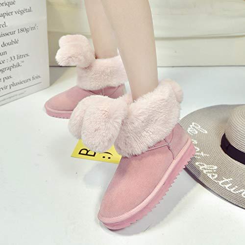 Hiver Bottes En Centrales Chaussures Neige De Rose Femmes Antidérapantes Zhw Pour zHOw8zx