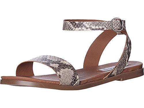 Steve Madden Women's Dalton Natural Snake 8 M US (Steve Madden Sandals)