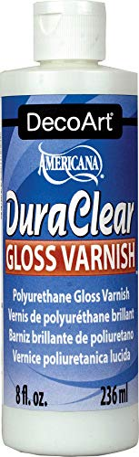 Acrylic Paint Varnish - DecoArt DS19-9 American DuraClear Varnishes, 8-Ounce, DuraClear Gloss Varnish