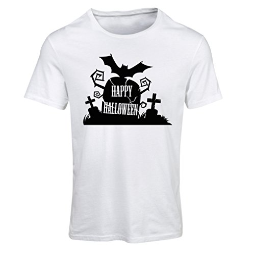 T shirts for women Halloween Graveyard Outifts - Costume Ideas - Cool Horror Design (X-Large White Multi (Cow Costume For Pregnant Women)