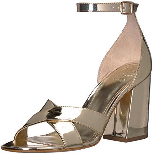 Guess Women's Dalla Heeled Sandal Gold 6 Medium US: Amazon