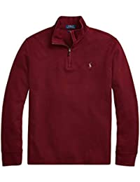 Mens Half Zip French Rib Cotton Sweater (XX-Large,...