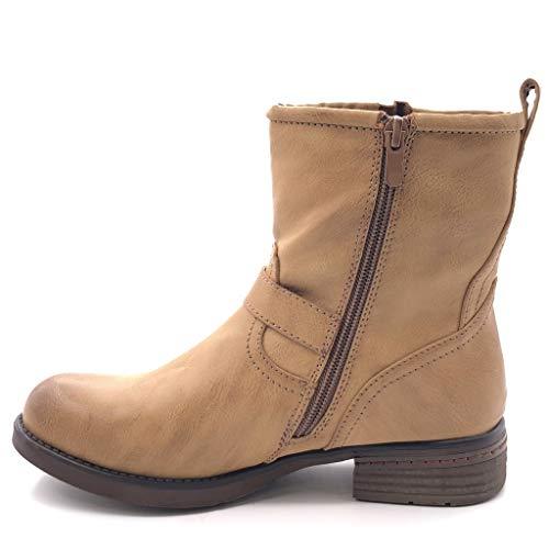 Talon Chaussure Bottine Intérieur Camel Damenschuhe Damenschuhe Camel lanière Mode ... 176bb9